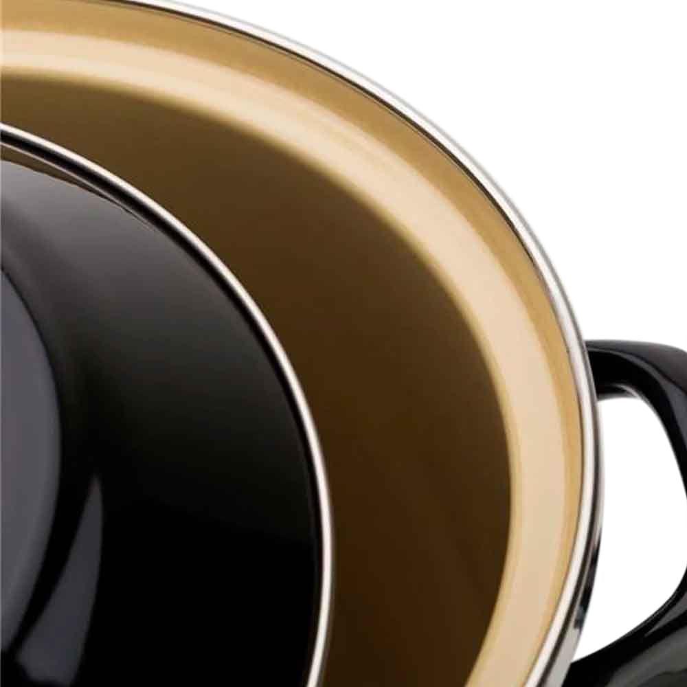 Panela Stock Pot em aço esmaltado Le Creuset 26cm black onix