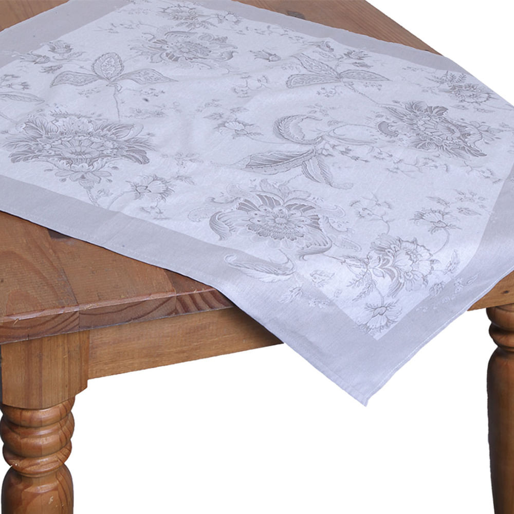 Toalha de mesa quadrada Karsten Kiara 78x78cm branca