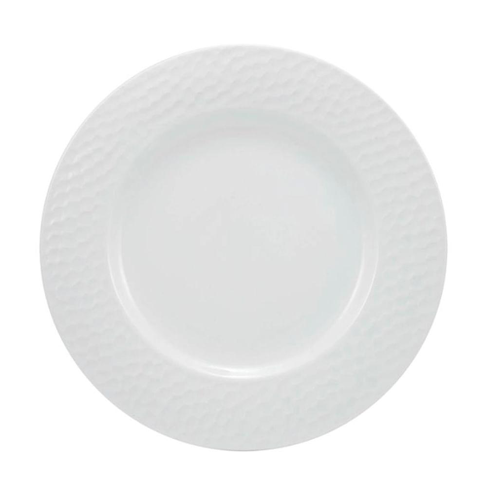 Prato raso em porcelana Schmidt Artico 28cm