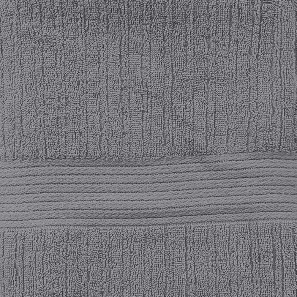 Jogo de banho e rosto Buddemeyer Fio Penteado 2 peças 70cmx1,40m cinza