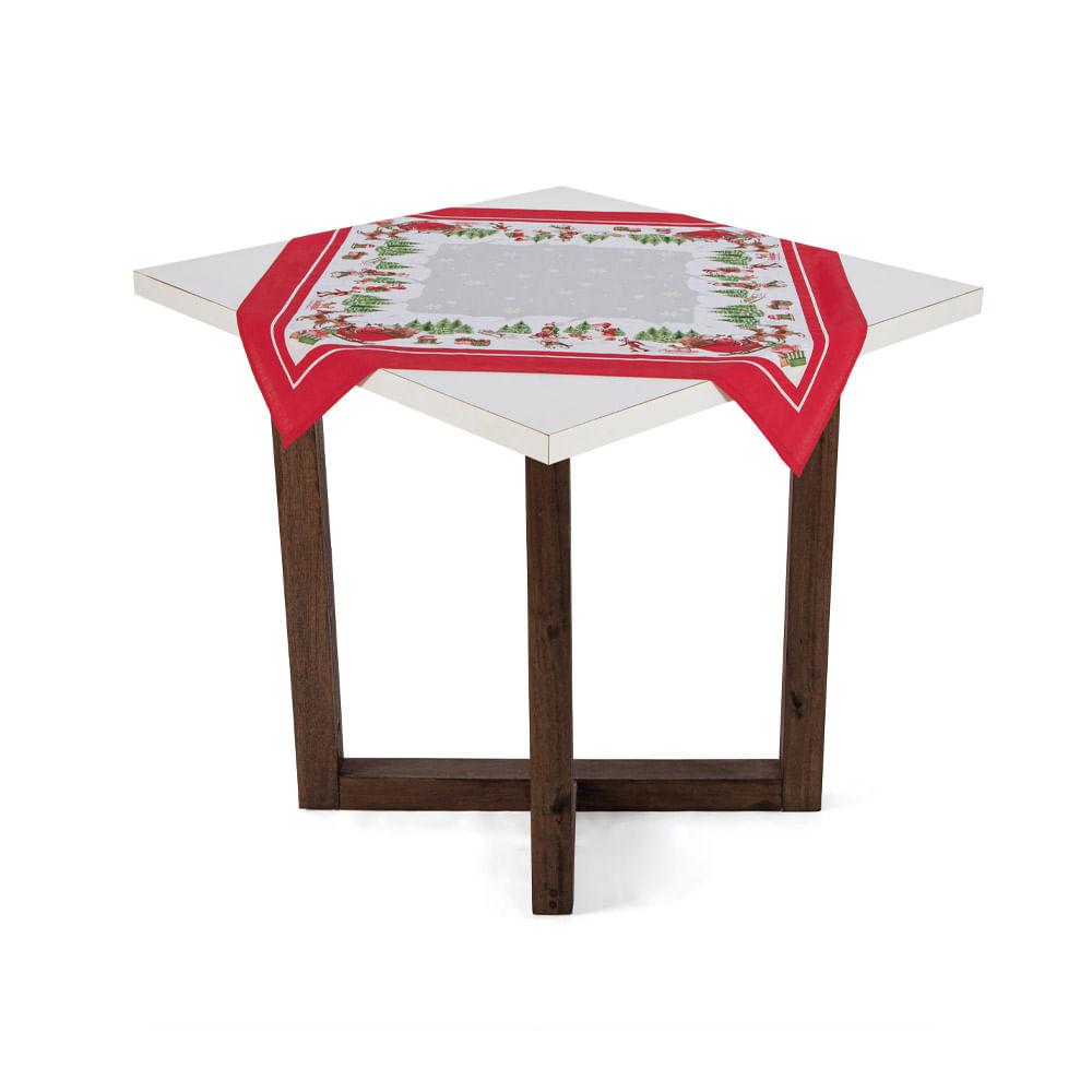 Toalha de mesa Karsten Clima de Natal 78cmx78cm