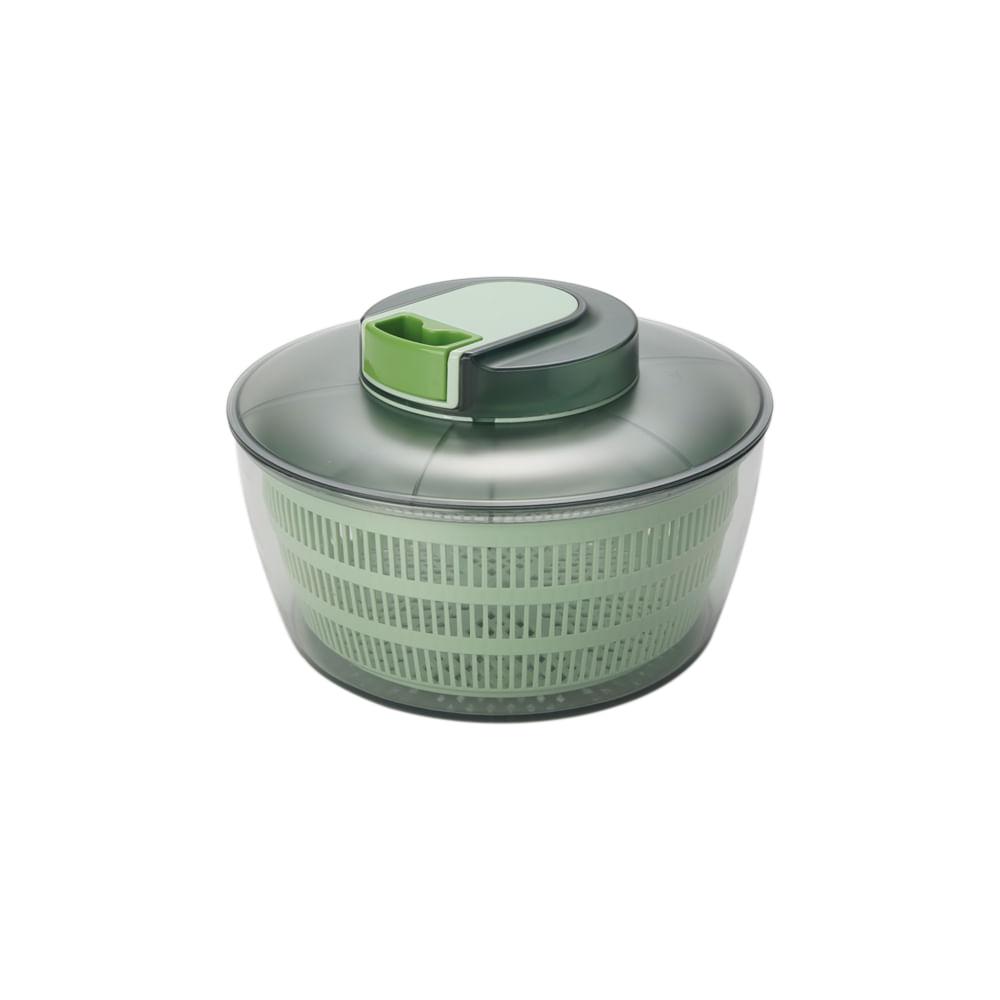 Secadora de salada em plástico Hudson Home 4 litros verde