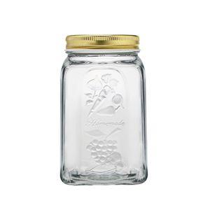 Pote-em-vidro-com-tampa-Pasabahce-Homemade-1L-dourado