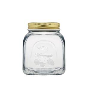 Pote-em-vidro-com-tampa-Pasabahce-Homemade-500ml-dourado