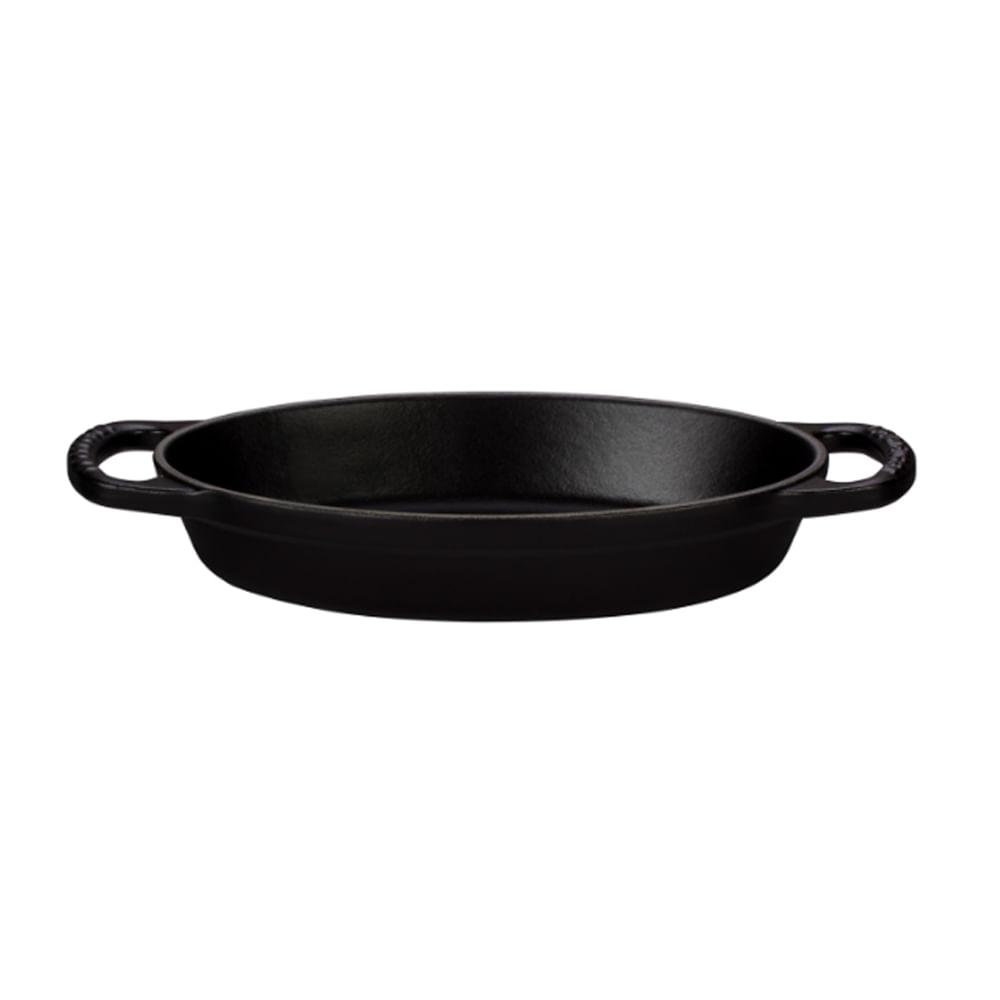 Assadeira oval em ferro Le Creuset Signature 20cm matte black