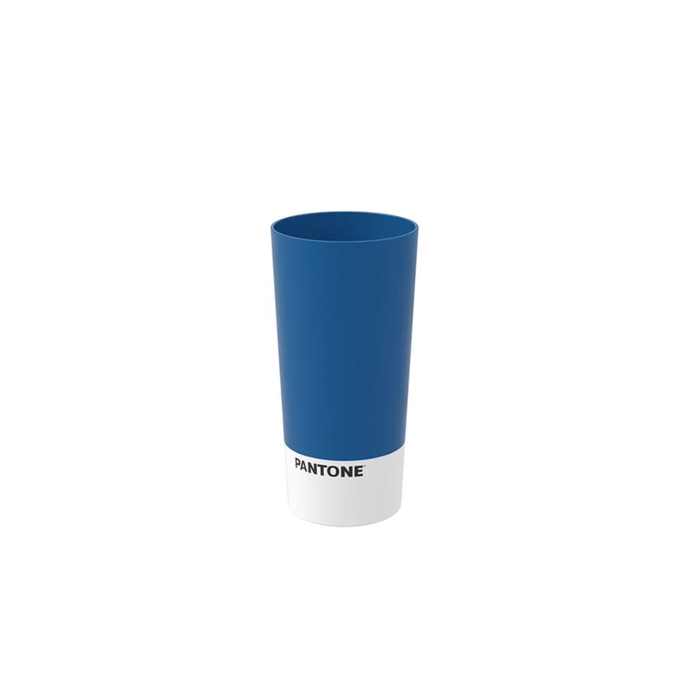 Copo cônico em plástico Coza Casual 500ml azul