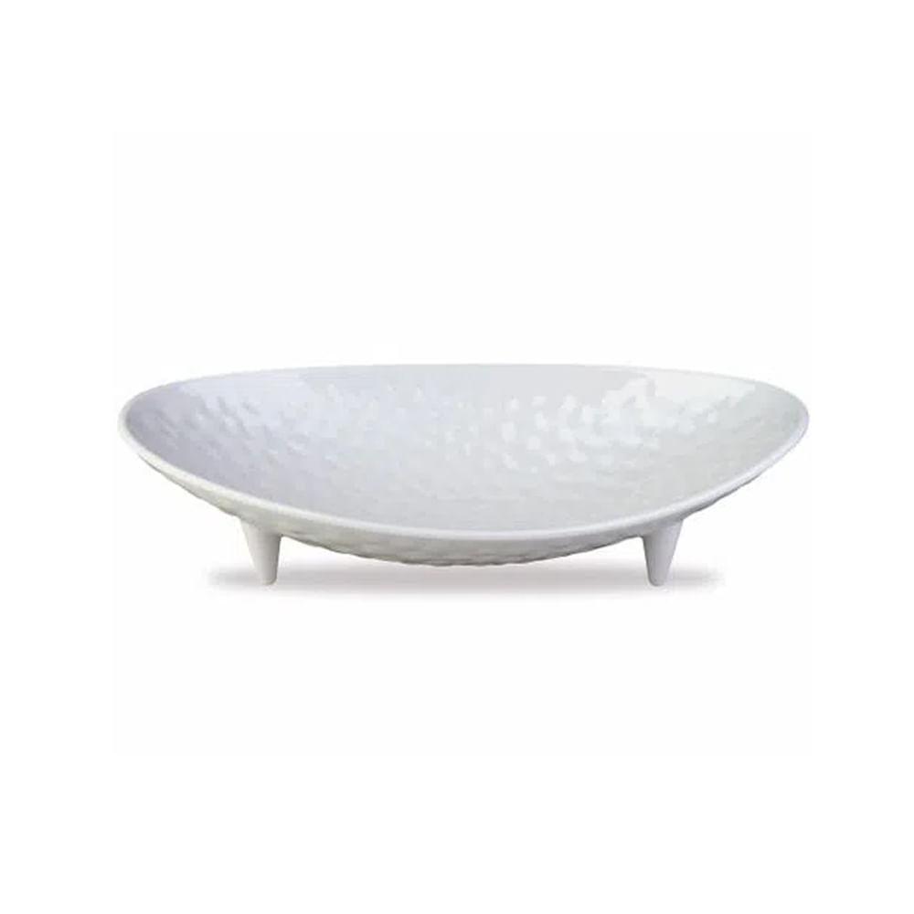 Centro de mesa em melamina Haus 50x24,5x12cm branco