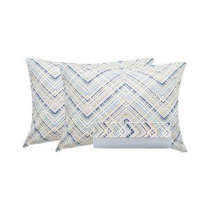 Jogo-de-lencol-duplo-com-elastico-Domani-DMI-Estampado-king-100--algodao