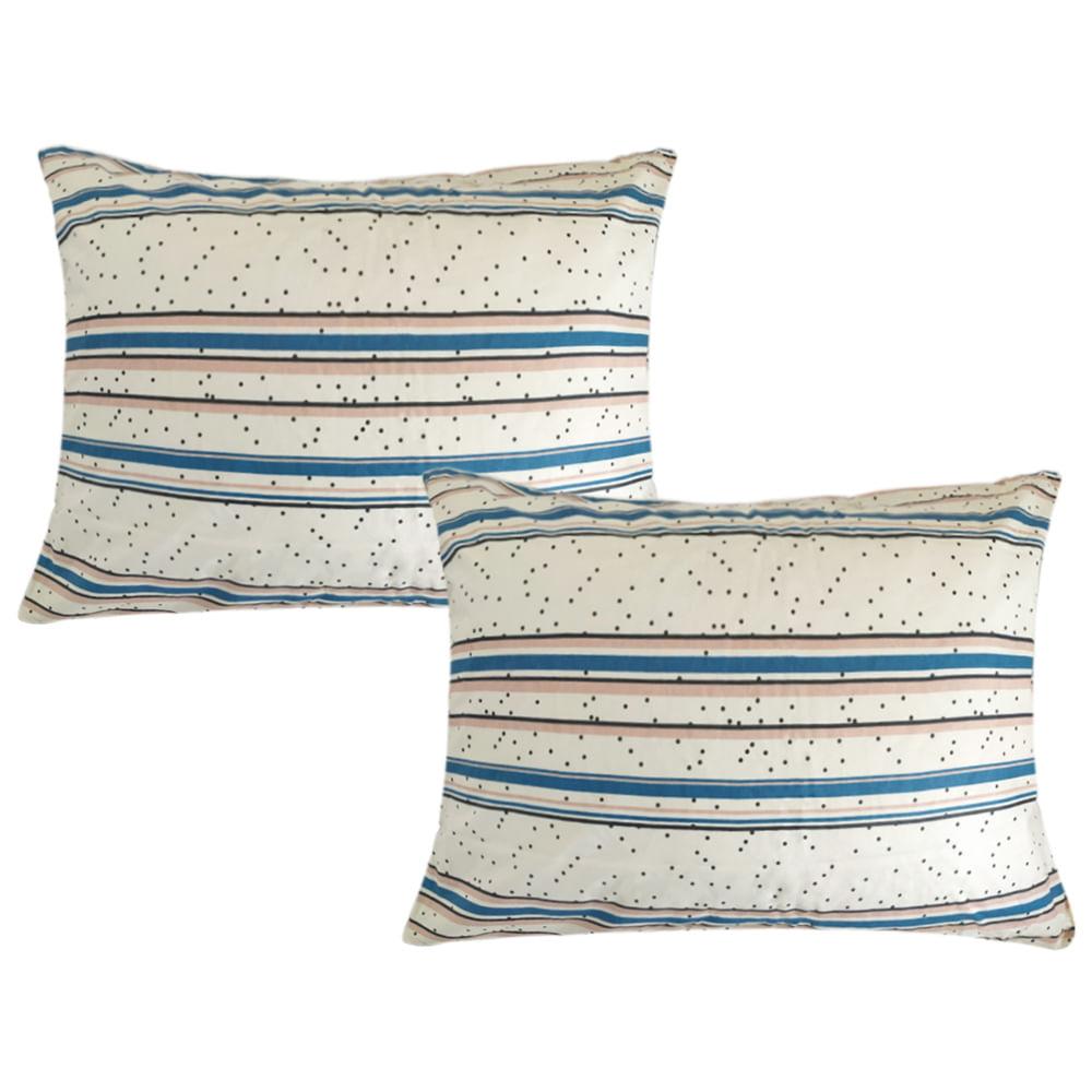 Jogo de lençol  duplo com elástico Domani DMI queen estampado 100% algodão  7439