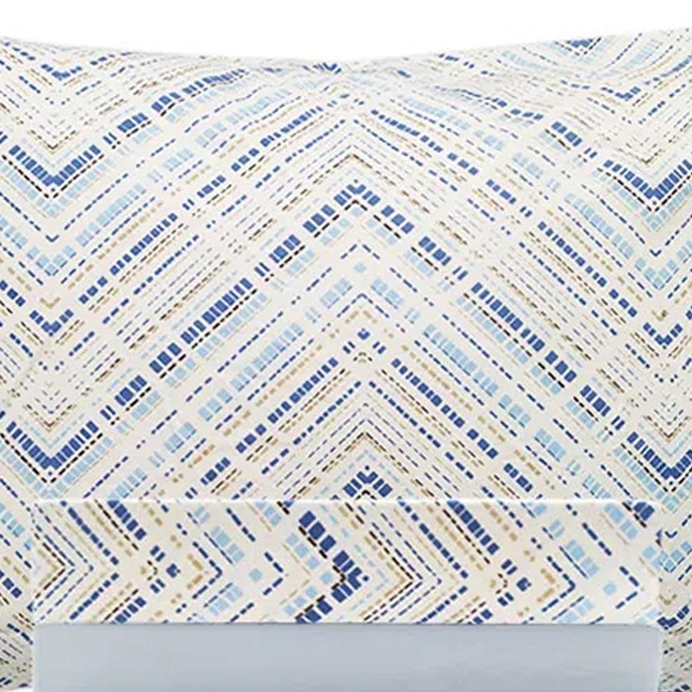 Jogo de lençol duplo com elástico Domani DMI Estampado queen 100% algodão