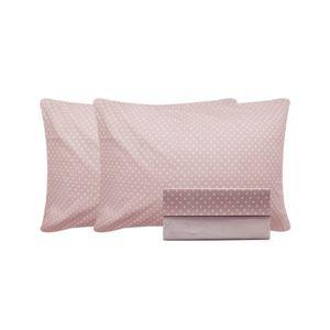 Jogo-de-lencol-duplo-com-elastico-Domani-DMI-Estampado-solteiro-100--algodao
