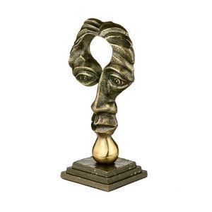 Figura-Decorativa-em-metal-Royal-Decor-12x22cm-preta